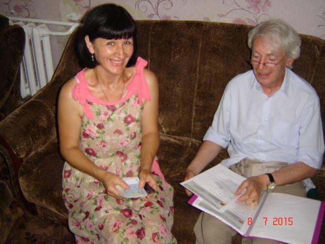 Spendenübergabe an die Witwe Iryna P. in Radomyschl (Schytomyr), 8. Juli 2015 – Bericht37