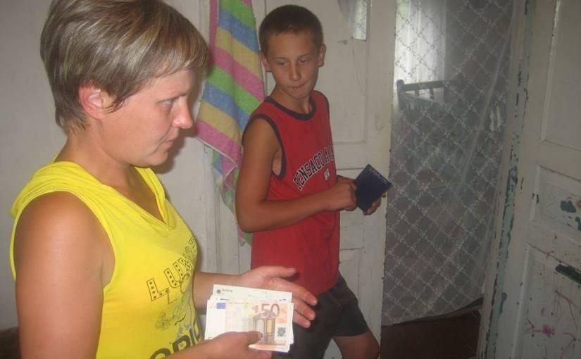 Spendenübergabe an die Witwe Natalija K. in Borschtschiw bei Radomyschl, 8. Juli 2015 – Bericht39